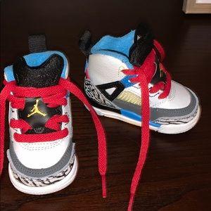 Air Jordan | Grey POP of Color Baby Jordans
